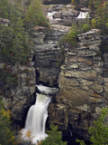 Linville Falls in Linville Gorge  Which Is Often Called the Grand Canyon of North Carolina