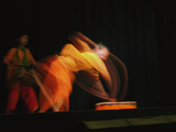 Long Exposure  Slow Motion Effect on a Tradiitional Dancer  New Delhi  India