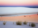 Dusk Sky Reflected in a Pool of Water from Recent Rains  White Sands National Monument  New Mexico