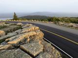 Road on Cadillac Mountain at Sunrise  Acadia National Park  Maine