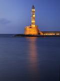 Lighthouse at Chania  Crete  Greece