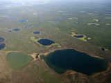 Green and Blue Lakes Dot the Siberian Landscape  Polaris Project  Sakha Republic  Siberia
