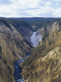 Lower Yellowstone Falls and Grand Canyon of the Yellowstone  Yellowstone National Park  Wyoming
