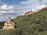 St Antimo Abbey  And City of Montepulciano  Italy  Tuscany