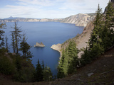 Phantom Ship Is an Outcrop of the Oldest known Rock in the Crater Lake Caldera