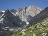 East Face of Longs Peak  a Glacial Headwall in the Rocky Mountains  Colorado  USA