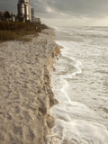 Beach Erosion During a Storm  Gulf Coast  Florida  USA