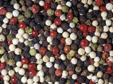 Mixed Varieties of Peppercorn or Pepper Fruits for Use as a Spice or Herb (Piper Nigrum)