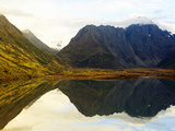 Reflections in Eklutna Lake in the Chugach Mountains of Alaska