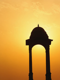 Tower Near the India Gate Silhouetted at Sunset  New Delhi  India