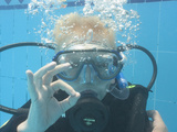 Young Boy Receiving Padi Seal Training in Pool  Egypt