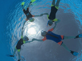 Children Snorkeling on Pool Surface in Star Shape  Egypt