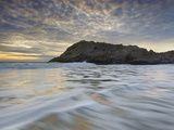 Sunset over the Rocky Shore of Central California  USA