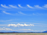 Two Rows of Kelvin-Helmholtz Waves (Above) and Cumulus Clouds (Below)  Summer Lake Wildlife Area