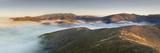 Valley Fog Between the Marin Headlands and Mt Tamalpais Near San Francisco  California  USA