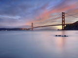 Sunset Behind the Golden Gate Bridge  San Francisco  California  USA