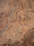 Detachment Fault  a Low-Angle Normal Fault  Mojave Desert with Steeply Tilted Rock