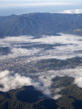 Mt Tamalpais With Morning Fog in Ross Valley And San Rafael  North of San Francisco Bay
