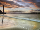 Golden Gate Bridge at Sunrise  San Francisco  California  USA