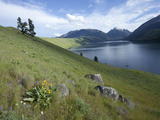 Wallowa Lake Hemmed in by a Glacial Moraine and with Glacially Transported Granitic Boulders