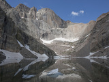 Cirque  Tarn  and Headwall  Chasm Lake and Longs Peak  Rocky Mountains  Colorado  USA