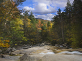Pemigewasset River Eroding Granite Rocks in the Basin  Franconia Notch State Park