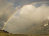 Torres Del Paine with a Rainbows Arching over the Mountains  Chile
