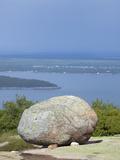 Glacial Erratic  Acadia National Park  Maine  USA