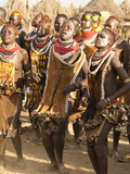 Members of the Karo Tribe During a Dance Ceremony  Omo River Valley  Ethiopia