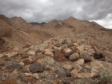 Rounded and Multicolored Boulders and Gravel Eroded from Nearby Mountains  Mojave Desert