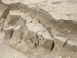 Close-Up of Beach Sand Erosion