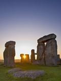Stonehenge at Sunrise Near the Summer Solstice  Salisbury Plain  England