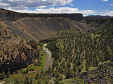 The Crooked River Below Prineville Reservoir Near Terrebonne  Oregon  USA