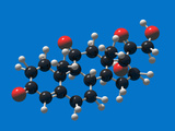 Cortisone Molecular Model Cortosone Is a Steroid Hormone