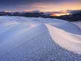 Hoar Frost on the High Dunes at Dawn  Great Sand Dunes National Park  Colorado  USA