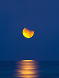 Partial Eclipse of the Moon  Setting over the Gulf of Mexico on the Morning of June 26  2010