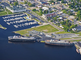 Car Ferry in Ludington Harbor  Michigan  USA