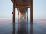 Sunrise View under the Scripps Pier  La Jolla  California  USA