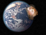 Collision of a Meteor with the Earth  Earth Image Courtesy of Nasa