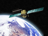 Artists Concept of a Global Positioning System (Gps) Satellite in Space  Earth Courtesy Nasa