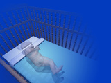 Illustration of Sudden Infant Death Syndrome  Sids  Represented by a Transparent Infant in a Crib
