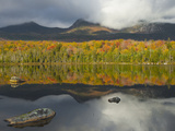 Forest and Lake in the Fall  Baxter State Park  Maine  USA