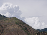Thunderstorms Develop over a Burned Mountainside  Increasing the Risk of Slope Failures