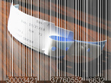 Barcode Superimposed on a Medical Bracelet