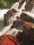 Red Rock Falls  Glacier National Park  Montana  USA