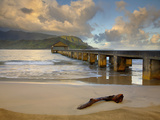 Morning Clouds over the Hanalei Pier  Kauai  Hawaii  USA