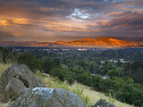 After a Storm Rolled Though the Valley  an Opening in the Clouds Allowed Mt Diablo