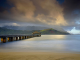 The Hanalei Pier Points Towards the Mountains Often Called Bali Hai