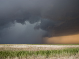 The Core of a Severe Thunderstorm with Torrential Rain and Hail in Western Kansas