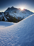 Winter Sunrise over Mount Shuksan from Kulshan Ridge  Mount Baker Wilderness  Washington  USA